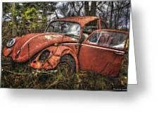 Old Vw Greeting Card