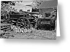 Old Wagon And Cooler Greeting Card