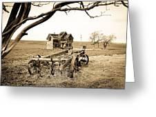Old Wagon And Homestead II Greeting Card by Athena Mckinzie