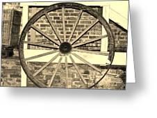 Old Wagon Wheel 1 Greeting Card
