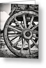 Old Wagon Wheels Greeting Card