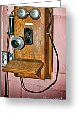 Old Wall Telephone Greeting Card