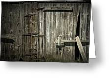Old Weathered Barn Door Greeting Card