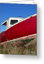 Old Weathered Boat Greeting Card