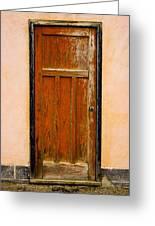 Old Weathered Door Greeting Card
