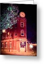Old Wedge Bank  Building  Haunted Alton Ill Greeting Card