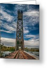Old Welland Lift Bridge 3d07057hp Greeting Card