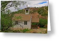 Old West Church In The Desert Greeting Card