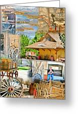 Old West Collage Greeting Card