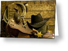 Old West Marshal Greeting Card by Ron Hoggard