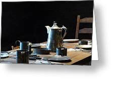 Old West Table Setting Greeting Card