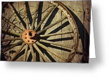 Old West Wagon Wheel Greeting Card