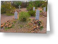 Old Western Gravesite Greeting Card