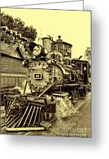 Old Western Railroad Greeting Card