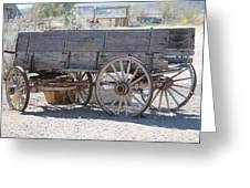 Old Western Wagon Greeting Card
