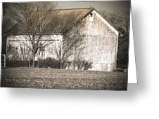 Old White Barn Greeting Card
