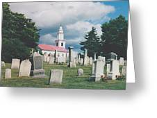 Old White Church Cemetery Greeting Card