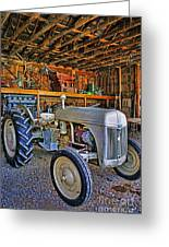 Old White Ford Tractor Greeting Card