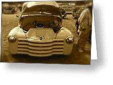 Old White Pickup Truck Greeting Card
