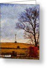 Old Windmill On The Farm Greeting Card