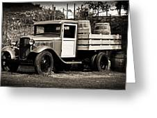 Old Wine Truck Malibu Greeting Card