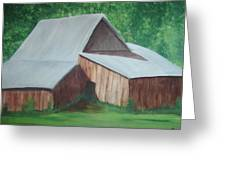 Old Wood Barn Greeting Card by Melanie Blankenship