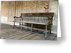 Old Wood Bench Greeting Card