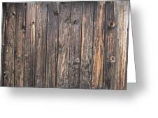 Old Wood Shack Exterior Background Greeting Card