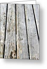 Old Wood Texture Greeting Card