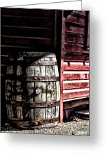 Old Wooden Barrel Greeting Card