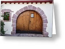 Old Wooden Door Greeting Card