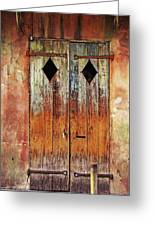 Old Wooden Door In French Quarter Greeting Card