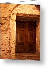 Old Wooden Doors Greeting Card