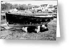 Old Wooden Fishing Boat In Portpatrick Harbour Scotland Uk Greeting Card