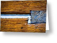 Old Wooden Houses Timbers Greeting Card