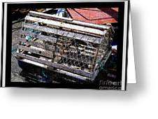 Old Wooden Lobster Pot Greeting Card