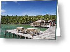 Old Wooden Pier Of Koh Rong Island In Cambodia Greeting Card
