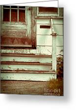 Old Wooden Porch Greeting Card