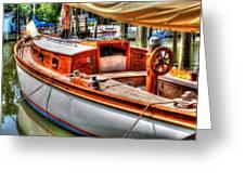 Old Wooden Sailboat Greeting Card