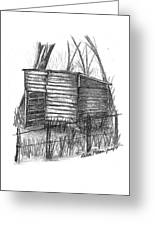 Old Wooden Shed Greeting Card by Diane Palmer