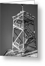 Old Wooden Watchtower Key West - Black And White Greeting Card by Ian Monk