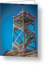 Old Wooden Watchtower Key West - Hdr Style Greeting Card by Ian Monk