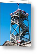Old Wooden Watchtower Key West Greeting Card by Ian Monk
