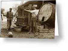 Old  Wooden Wine Press Circa 1910 Greeting Card