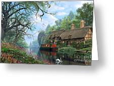 Old Woodland Cottage Greeting Card