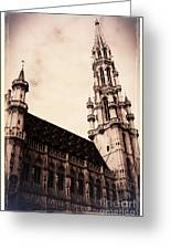 Old World Grand Place Greeting Card