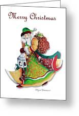Old World Santa Christmas Art Original Painting By Megan Duncanson Greeting Card