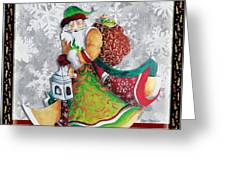 Old World Santa Clause Christmas Art Original Painting By Megan Duncanson Greeting Card