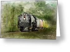 Old World Steam Engine Greeting Card