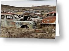 Old Wrecks Greeting Card